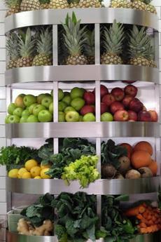 Produce on display at Revolution.